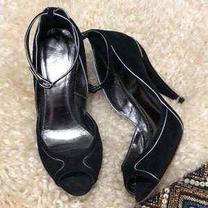 Black Suede Elie Tahari Heels